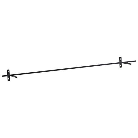 Housedoctor Wandregal Fügen Sie schwarzes Eisen 70x9.5x5cm