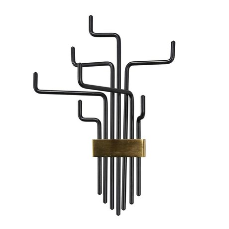Housedoctor Portemanteau Pipes fer noir 42,5 cm