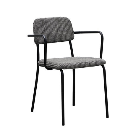 Housedoctor Dining room chair Classico dark gray textile steel 55x50x70cm