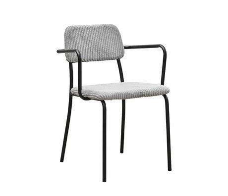 Housedoctor Chaise de salle à manger Classico en acier textile gris clair 55x50x70cm