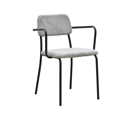 Housedoctor Dining room chair Classico light gray textile steel 55x50x70cm