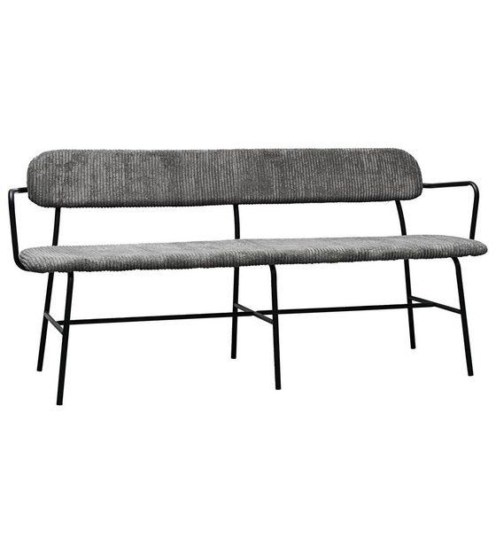 Pleasant Housedoctor Dining Room Bench Classico Dark Gray Textile Steel 160X42X77Cm Ocoug Best Dining Table And Chair Ideas Images Ocougorg