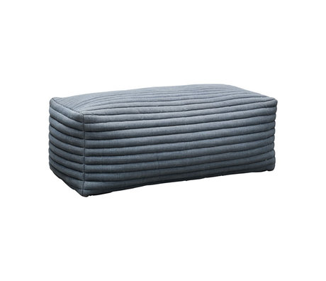 Housedoctor Hocker Strings grau blau Textil 120x60x40cm