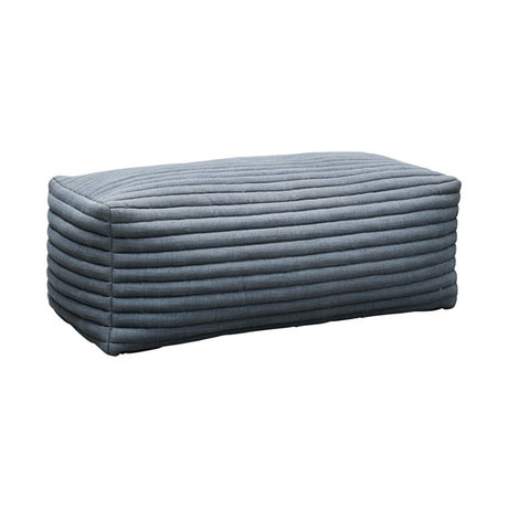 Housedoctor Pouf Strings gray blue textile 120x60x40cm