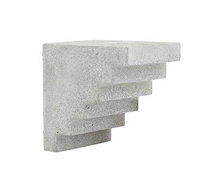 Housedoctor Ornement Escalier gris ciment 15x12x15cm