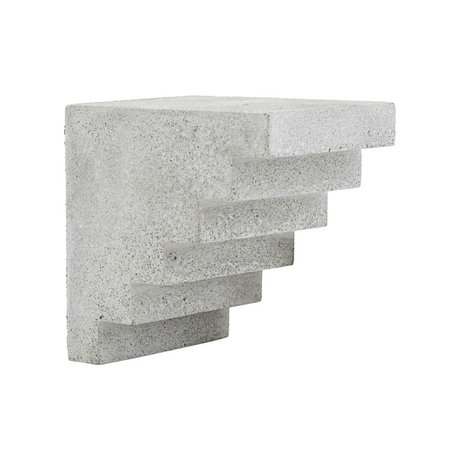 Housedoctor Ornament Stairs gray cement 15x12x15cm