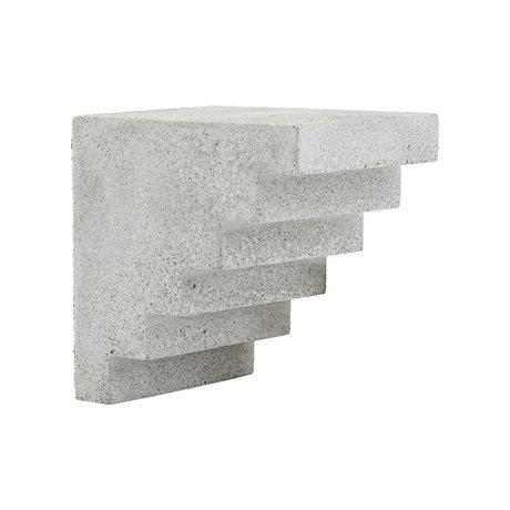 Housedoctor Ornament Treppen grauer Zement 15x12x15cm