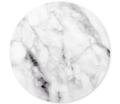 Groovy Magnets magnet sticker marble white self-adhesive vinyl with iron particles Ø60 cm