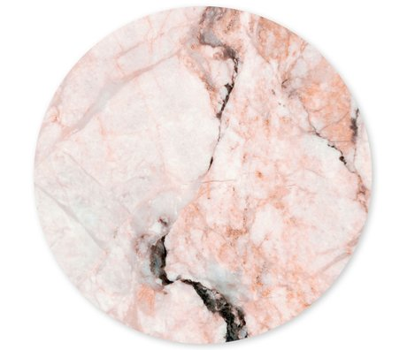 Groovy Magnets magnet sticker marble rosette pink self-adhesive vinyl with iron particles Ø60 cm