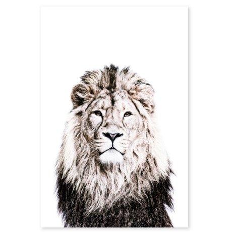 Groovy Magnets magneetsticker lion zelfklevend vinyl met ijzerdeeltjes 60x90cm