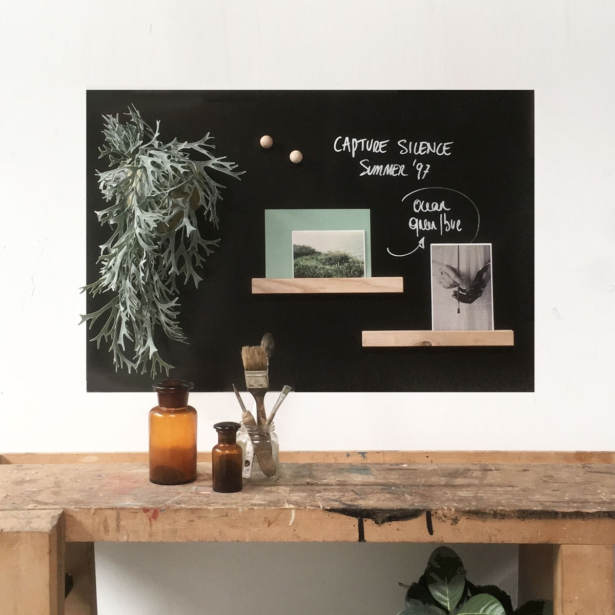 Super Magneetsticker writeble chalk marker zwart vinyl met ijzerdeeltjes WV-45