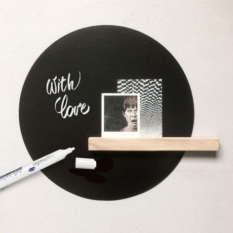 Groovy Magnets Magneetsticker writeble chalk marker zwart vinyl met ijzerdeeltjes set van 3