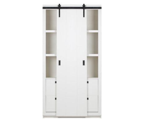 vtwonen slide cabinet barn wood white 122x37x230cm