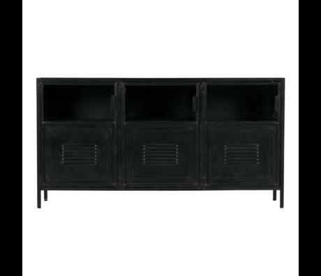 LEF collections Buffet Ronja en métal noir 143x37x75.5cm
