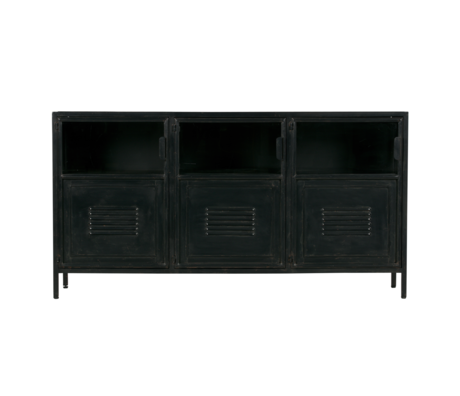 LEF collections Ronja sideboard black metal 143x37x75.5cm