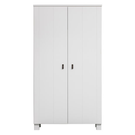LEF collections Kast Ties wit grenen hout 111x55x202cm
