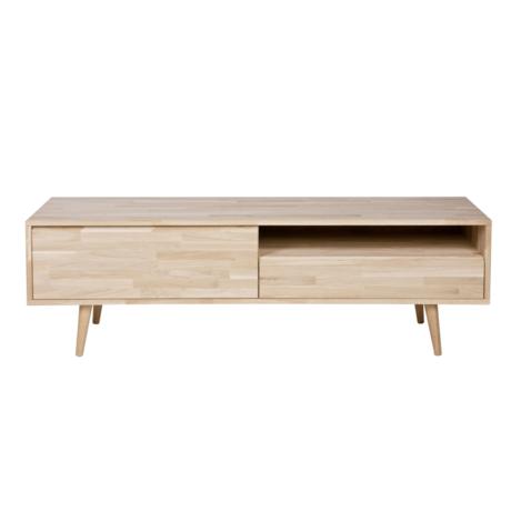 LEF collections Meuble de télévision en bois de chêne brun naturel Tygo avec pieds rétro 150x44 x47cm