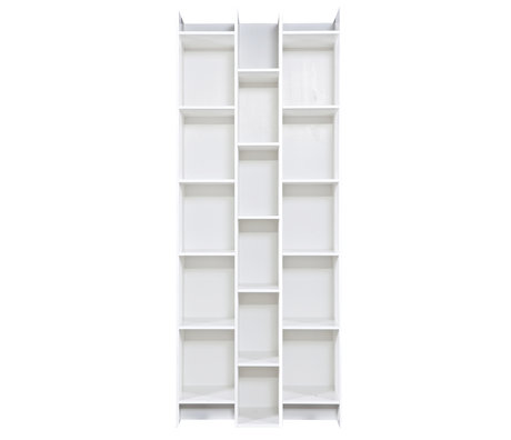 LEF collections Expand compartment cupboard white pine wood 80x35x200cm