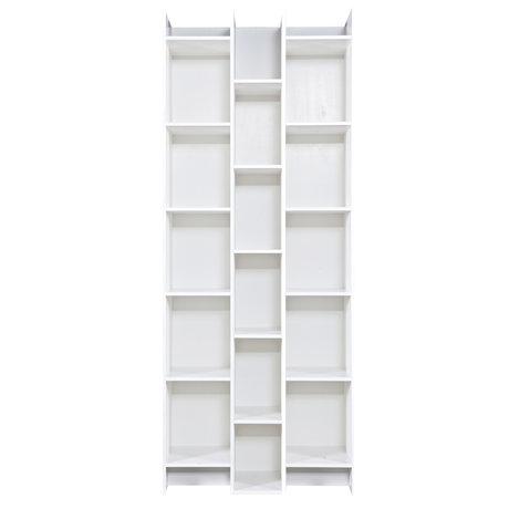 LEF collections Expand compartiment armoire en pin blanc 80x35x200cm