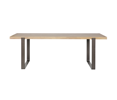 LEF collections Dining table Jamie brown untreated oak wood metal 180x90cm