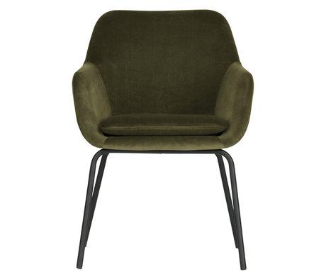 vtwonen Chaise de salle à manger Mood green velvet set of 2