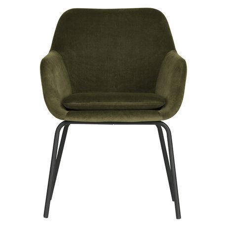 vtwonen Dining room chair Mood green velvet set of 2