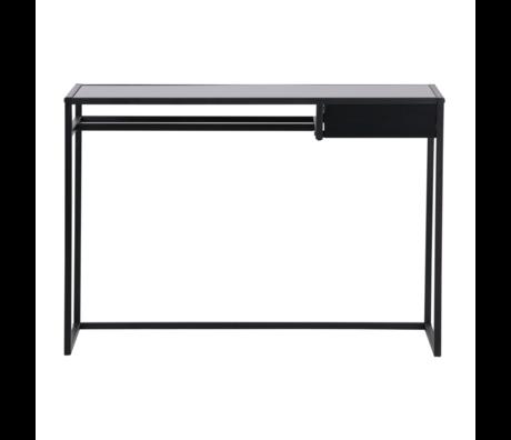 LEF collections Bureau Teun avec tiroir en métal noir 110x50x76cm
