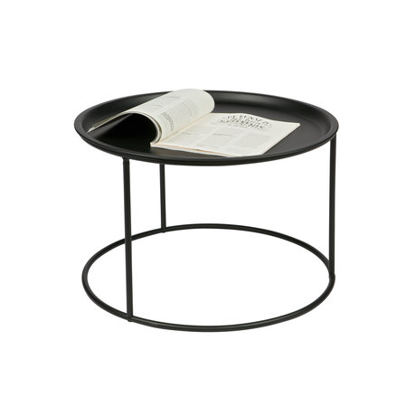 LEF collections Table d'appoint Ivar grand métal noir 56x56x37,5cm