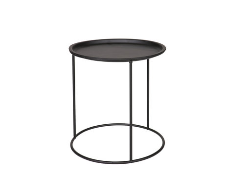 LEF collections Table d'appoint Ivar médium noir 40x40x43cm