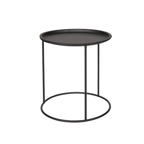 LEF collections Side table Ivar medium black metal 40x40x43cm