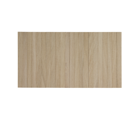 LEF collections armleuning dienblad flexibel M naturel bruin onbehandeld eikenhout 44x24cm