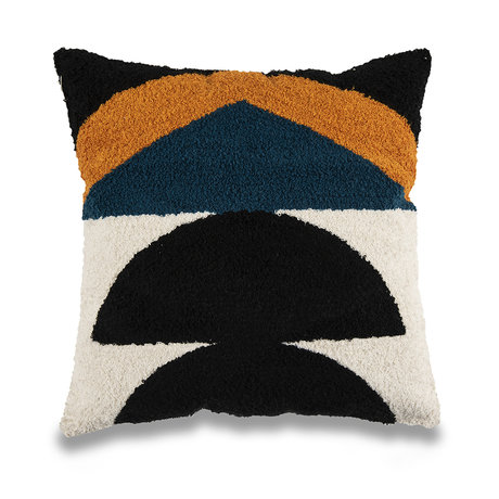 mister FRENKIE Throw pillow Geo multicolour cotton 45x45cm