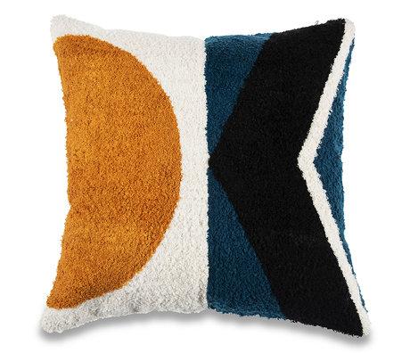 mister FRENKIE Coussin décoratif Sun multicolore en coton 45x45cm