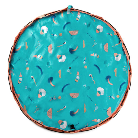 Play & Go sac de rangement / tapis de jeu Outdoor Beach Play polyester multicolore ø140cm