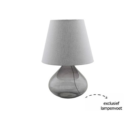 Housedoctor Lampshade Illy gray textile Ø34x27cm