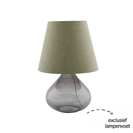 Housedoctor Lampshade Illy green textile Ø34x27cm