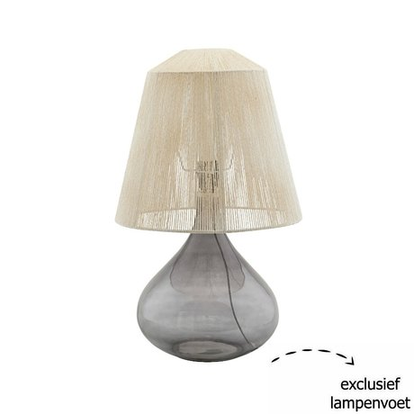 Housedoctor Lampshade String beige paper iron Ø34x31cm