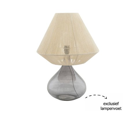 Housedoctor Lampshade String beige paper iron Ø41x32cm