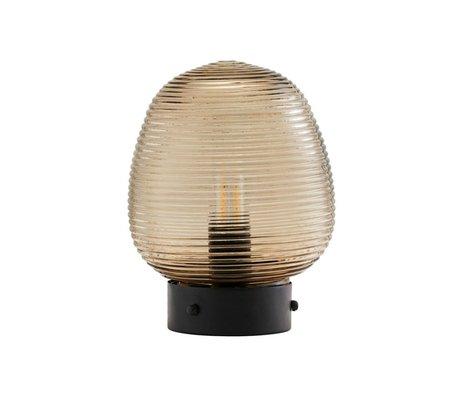 Housedoctor Lampe à poser Ghia en verre brun métal Ø18.5x24cm