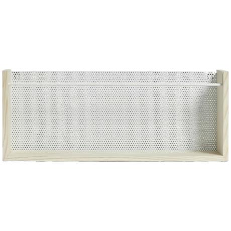 OYOY Porte-revues Moku naturel brun blanc bois métal 13x20x50cm