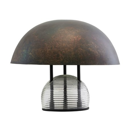 Housedoctor Table lamp Umbra antique brown glass metal Ø43x35cm