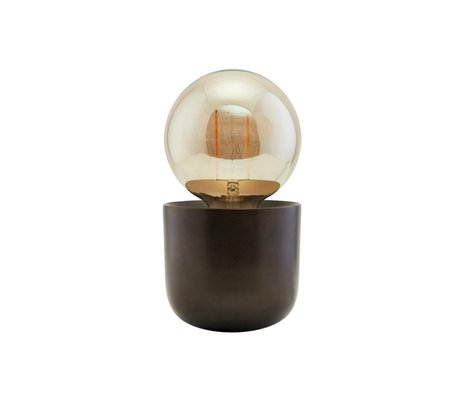 Housedoctor Tafellamp Gleam antiek bruin ijzer Ø12x10,5cm