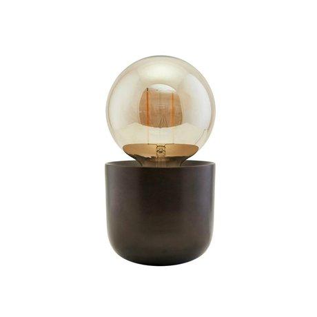 Housedoctor Tischlampe Gleam antikes braunes Eisen Ø12x10.5cm