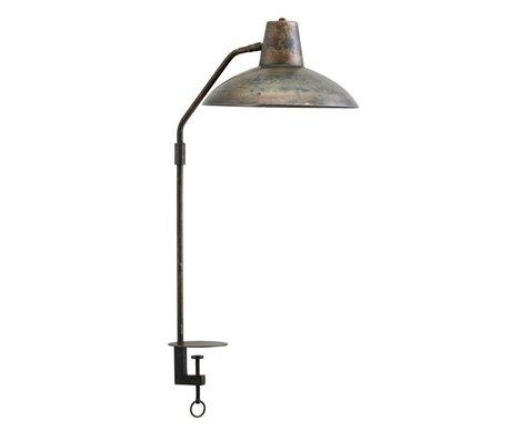 Housedoctor Tafellamp Desk antiek bruin ijzer Ø31x70cm