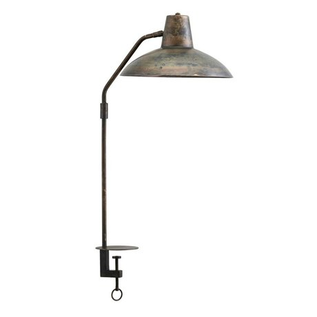 Housedoctor Lampe de table Bureau en fer marron antique Ø31x70cm