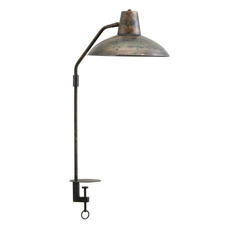 Housedoctor Tischlampe Schreibtisch antikes braunes Eisen Ø31x70cm