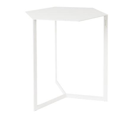 Zuiver Bijzettafel Matrix wit metaal 45x38x45cm