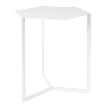 Zuiver Side table Matrix white metal 45x38x45cm