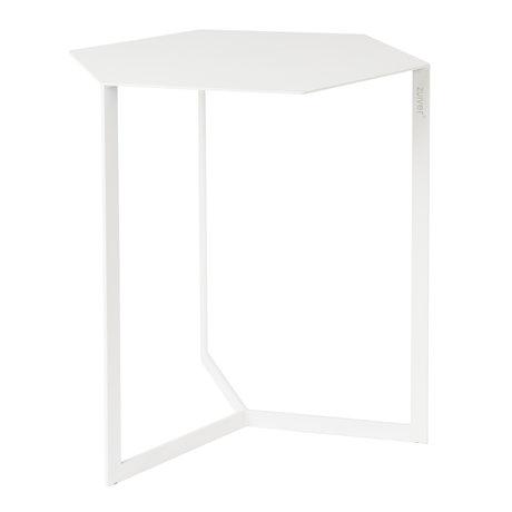 Zuiver Table d'appoint Matrix en métal blanc 45x38x45cm