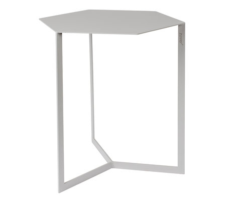 Zuiver Side table Matrix light gray metal 45x38x45cm